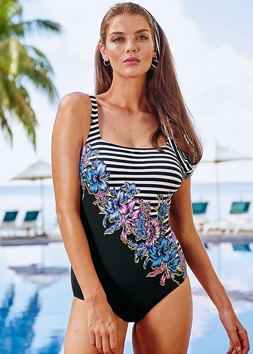 Anita Comfort Bloom & Stripes Anica Swimsuit
