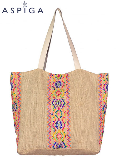Aspiga Aruba Jute Beach Bag