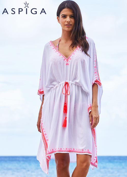 Aspiga Festival Embroidered Kaftan