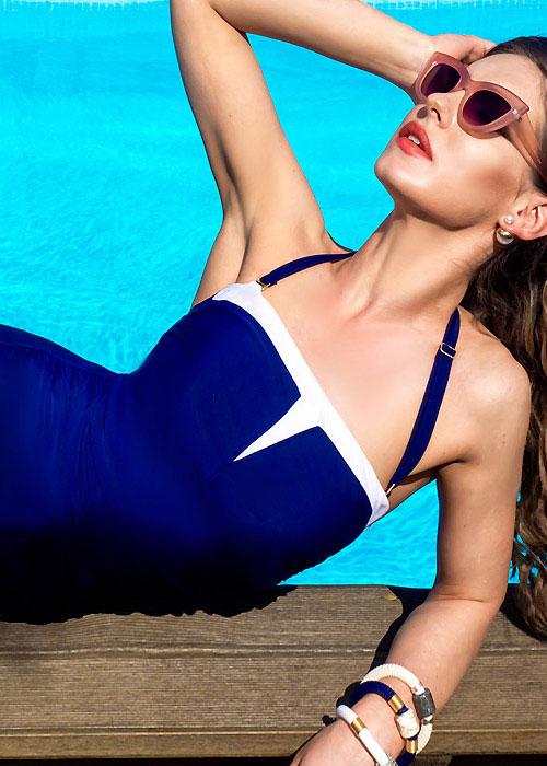 Clover Lewis Jump Bandeau Mastectomy Swimsuit