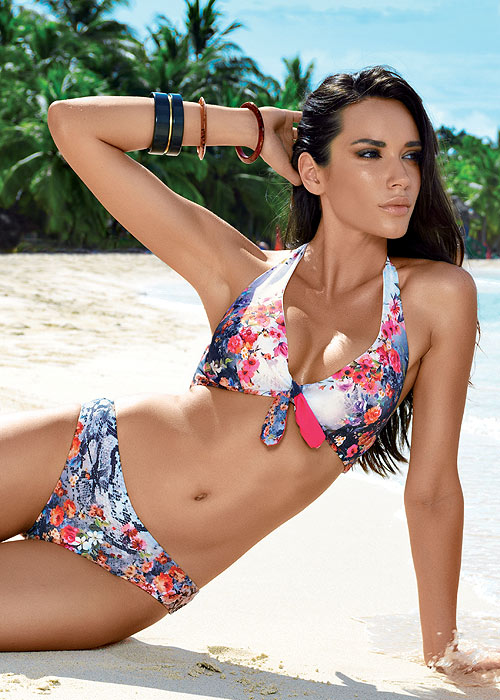David Floral Bay Tania Halter Neck Bikini