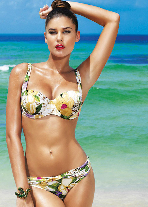 David Lady Club Sabbia Print Balconette Bikini