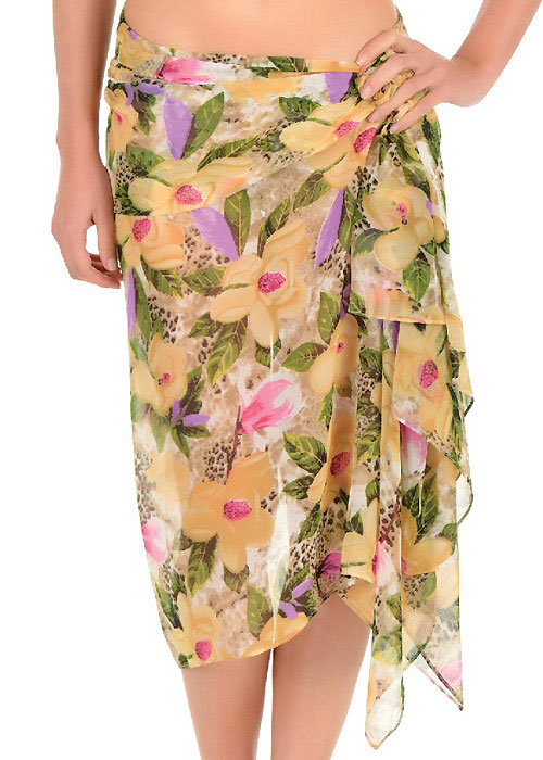 David Lady Club Sabbia Print Sarong