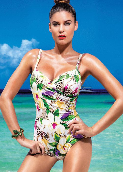David Lady Club Sabbia Print Swimsuit