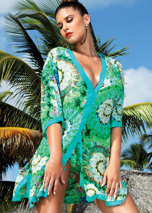 David Lady Club Verde Tunic