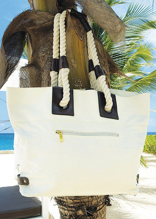David Reversible Canvas Beach Bag