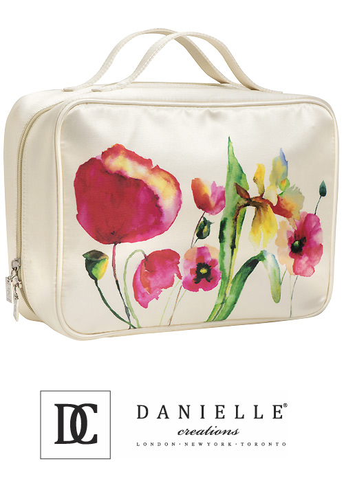 Danielle Creations Watercolour Floral Cosmetic Bag