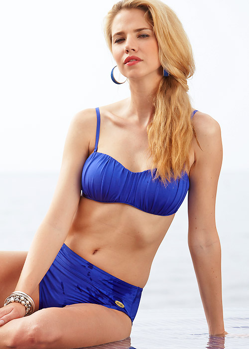 Damella Royal Blue Bandeau Bikini