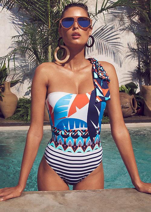 Dolores Cortes Renau One Shoulder Swimsuit