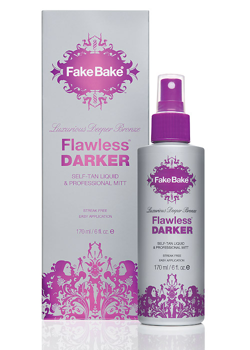 Fake Bake Flawless Darker Self Tan Liquid & Mitt