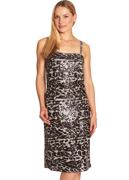 Feraud Leopard Sequined Sun Dress