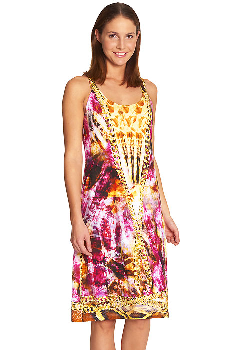 Feraud Snakeskin Sleeveless Sun Dress