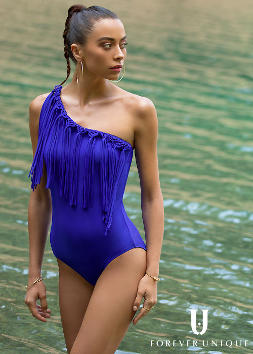 Forever Unique Antigua One Shoulder Swimsuit