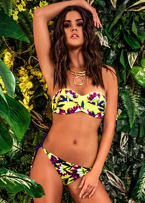 Forever Unique Psychotropical Hawaii Bandeau Bikini