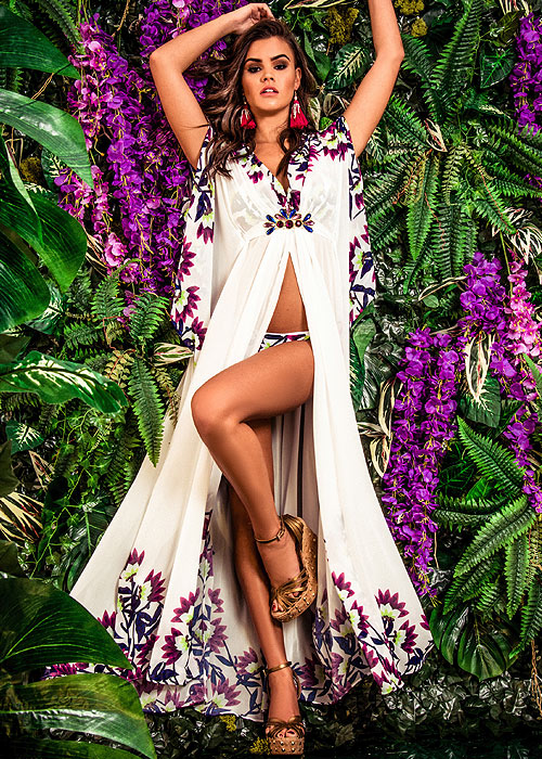 Forever Unique Psychotropical Tropica Maxi Cover Up