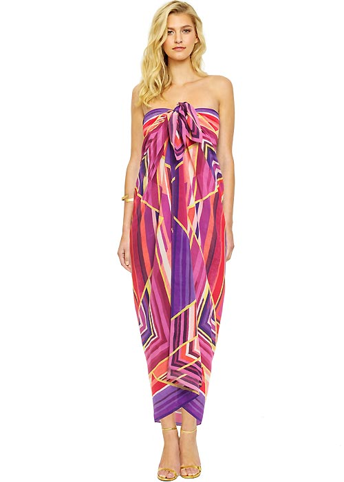 Gottex Art Deco Silk Pareo