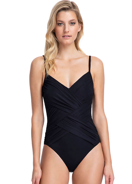 Gottex Contour Lattice V Neck Swimsuit