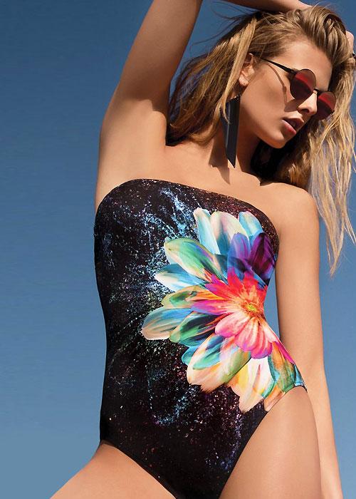 Gottex Cosmic Petals Bandeau Swimsuit