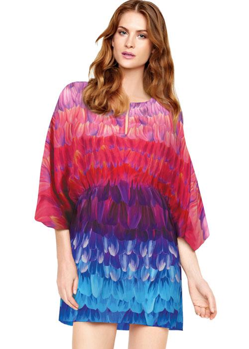 Gottex Cosmic Petals Silk Tunic