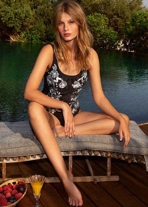 Gottex Couture Enchanted Round Neck Tank Swimsuit