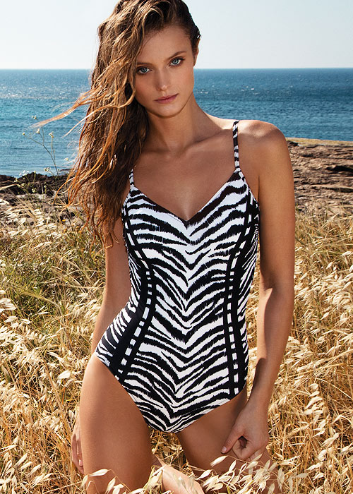 Gottex GTX Geo Safari V Neck Swimsuit