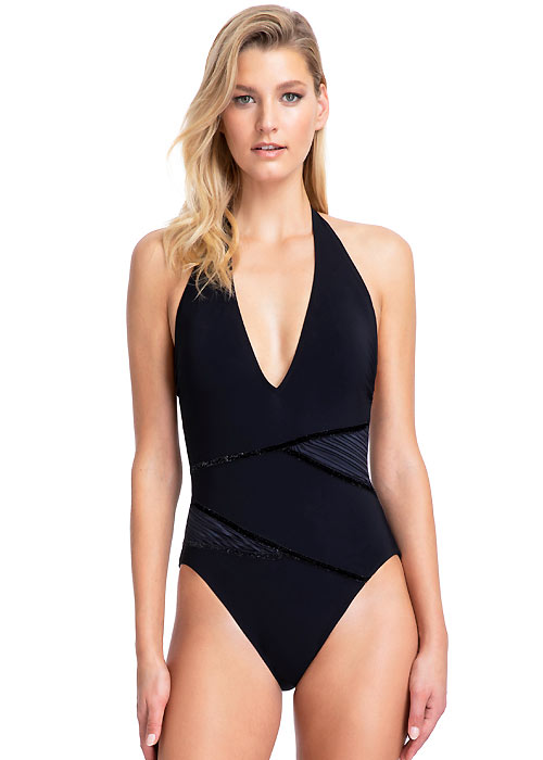 Gottex Moonlight Glow Halter Swimsuit