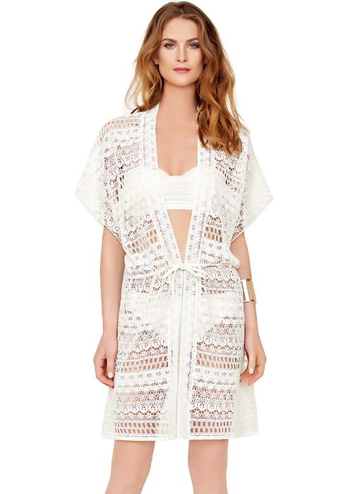 Gottex Pearl Goddess Crochet Kimono