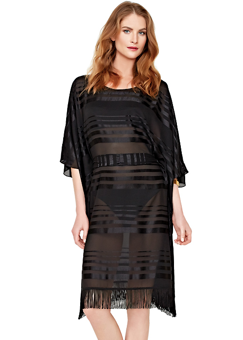 Gottex Regatta Sheer Stripe Kaftan