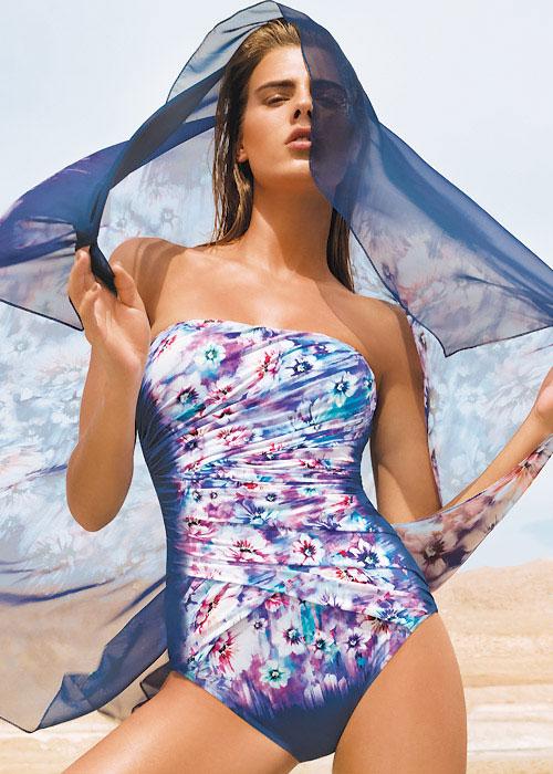 Gottex Secret Garden Contour Bandeau Swimsuit