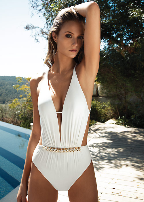 Gottex South Sea Pearl Cut Out Swimsuit