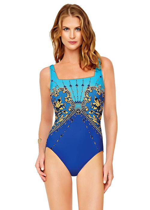 Gottex Versailles Square Neck Swimsuit