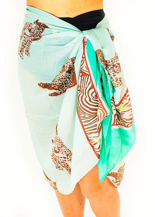 Heaven Sent Acqua Safari Sarong