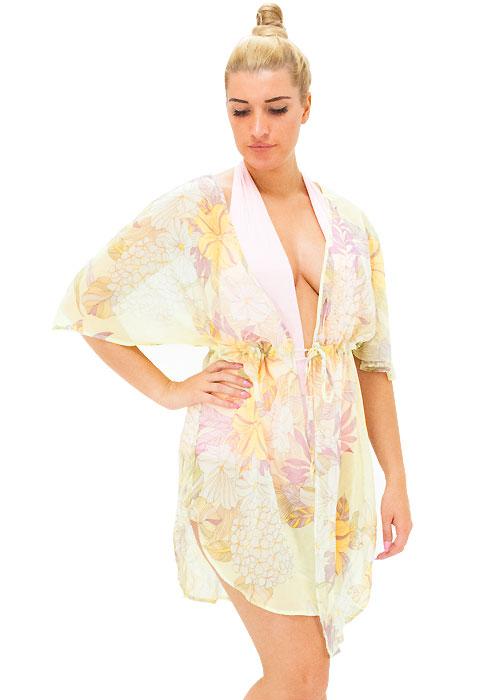 Heaven Sent Floral Print Kimono