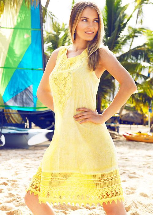 Iconique Lydia Yellow Sun Dress