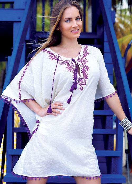 Iconique Morocco Embroidered Kaftan