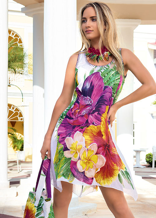 Iconique Orchid Bloom Sun Dress