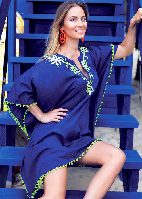 Iconique Pacha Inaco Embroidered Poncho