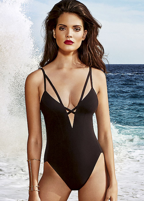Maryan Mehlhorn Safari Plunge Front Swimsuit