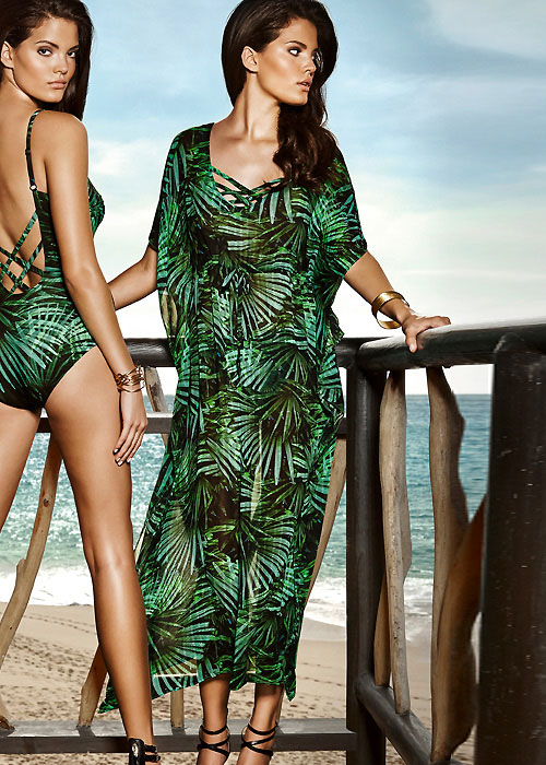 Maryan Mehlhorn Rainforest Silk Kaftan