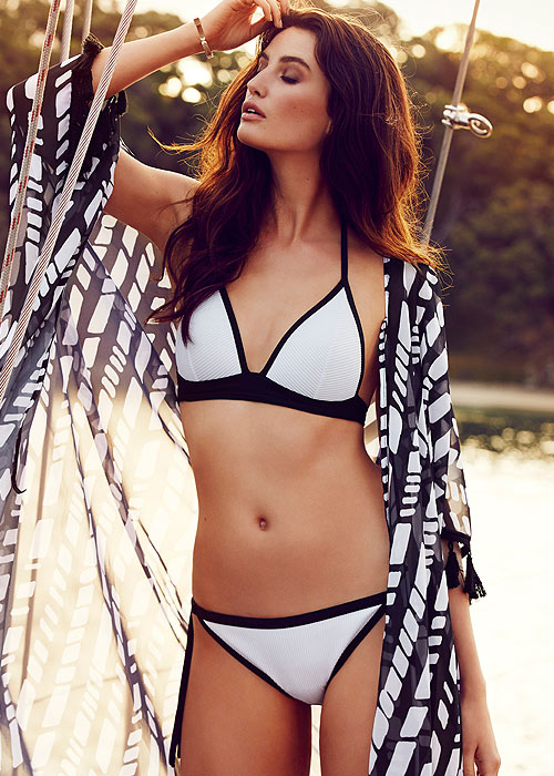Moontide Jacquard Stripe Booster Bikini