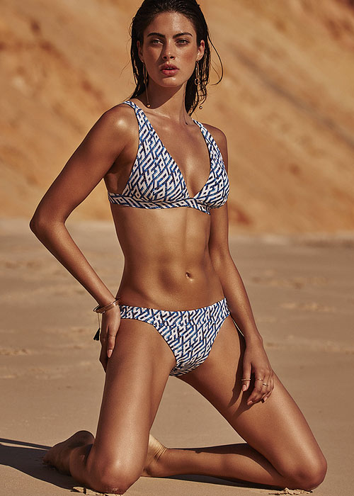 Moontide Mosaic Long Line Bikini