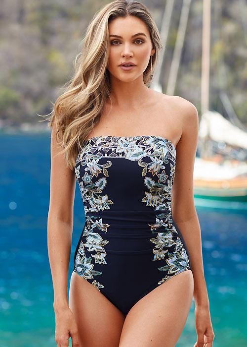Miraclesuit Cloisonne Avanti Bandeau Swimsuit