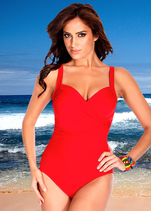 Miraclesuit Must Haves Sanibel Red Swimsuit