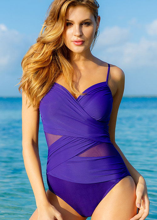 Miraclesuit Network Mystify Eggplant Swimsuit