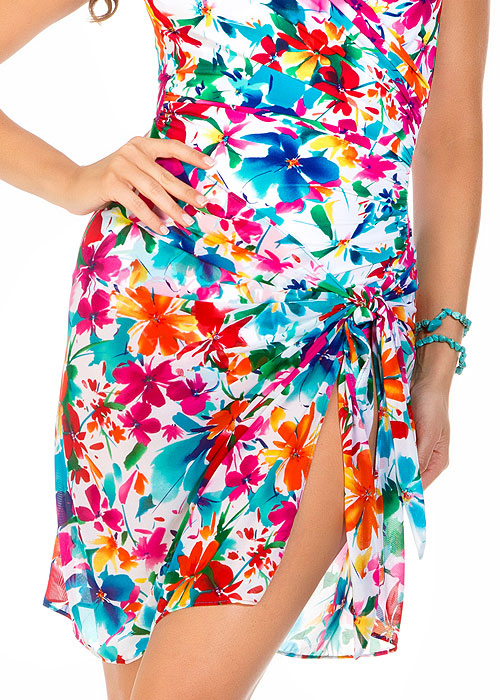Miraclesuit Pick A Posey Floral Tie Side Sarong
