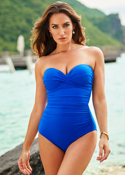 Miraclesuit Rock Solid Madrid Bandeau Swimsuit