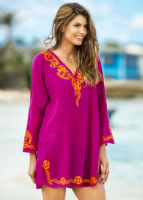 Phax Embroidered V Neck Tunic