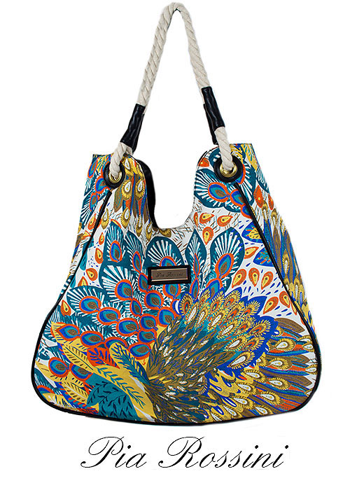 Pia Rossini Delta Exotic Print Beach Bag