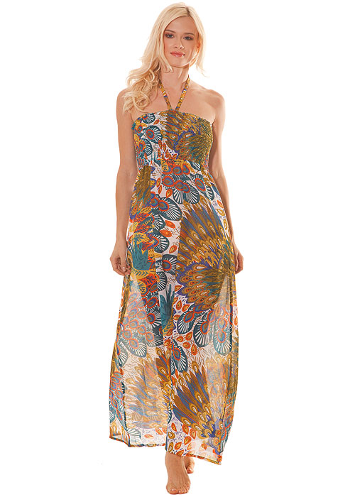 Pia Rossini Delta Exotic Print Maxi Dress