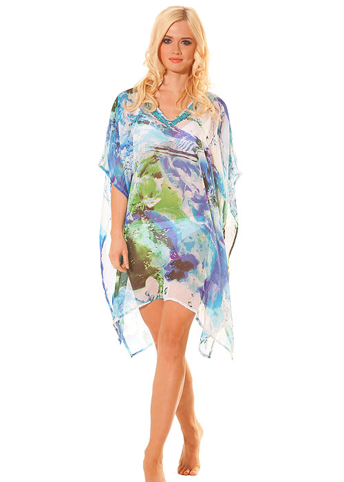 Pia Rossini Lorenzo Sea Breeze Printed Poncho